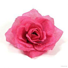 """Ansteckrose, Haarrose in pink-telemagenta, Modell """"Französische Rose"""""""
