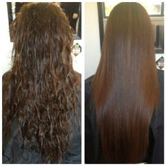 Keratin treatment before and after at miss bliss hair boutique gold coast. #hair #keratin #treatment