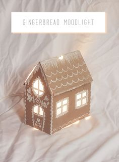 Gingerbread house moodlight - DIY for a cozy holiday by decorating with love from Panka