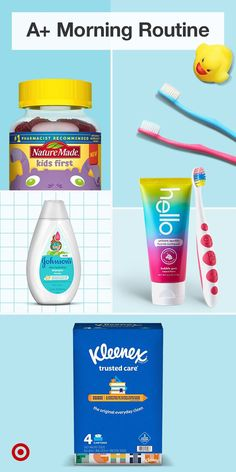 Find everything you need to help kiddos ace the new school year. Start by creating a great morning routine with toothpaste, shampoo, vitamin gummies & facial tissues and set them up for success. Shop daily essentials at Target. Decorative Light Switch Covers, Back To School Essentials, Kitchen Paint Colors, Bracelet Crafts, New School Year, Baby Family, Business Goals, New Kids, Parenting Advice