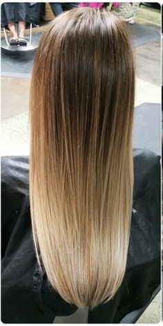 Ombre hair, I would bring the brown base color down a little farther