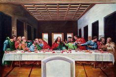 Da Vinci - The Last Supper  ~~oil painting reproductions available at overstockArt.com    art