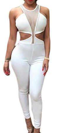 ARTFFEL Womens Sheath Pure Colour Full-Zip Casual Long Sleeve Jumpsuit Romper