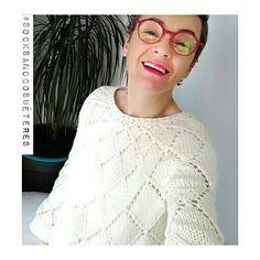 """63 Me gusta, 3 comentarios - ana conde (@anaconde_socksandco) en Instagram: """"Os podéis imaginar cómo me gusta este #suéter??? #socksandco #socksandcosuéteres  #tejer…"""""""