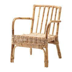 IKEA - JASSA, Sillón, Cada pieza es única, porque ha sido trenzada a mano por un artesano cualificado.El barniz transparente crea variaciones naturales de color y protege al mueble del uso.Los muebles fabricados con fibras naturales son ligeros, a la vez que resistentes y duraderos.