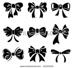 stock vector : Set of bow