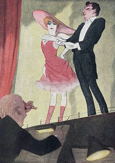Illustration by Walter Schnackenberg Miverstndnis, Simplicissimus. Hermann Hesse, Vintage Artwork, Vintage Posters, Vintage Illustrations, Socialist Realism, Magic Realism, Love Posters, Political Art, Theater