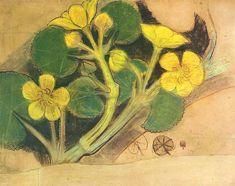 Stanisław Wyspiański, Kingcup flower, 1895 Art Nouveau Illustration, Horticulture, Graphic Art, Alice, Art Prints, Drawings, Flowers, Painting, Folktale