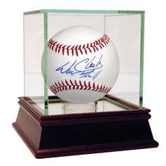 """Giants' great Will Clark has personally hand-signed this MLB baseball and inscribed it """"Thrill."""" In his first full season as a member of the San Francisco Giants in 1987, Clark had a .308 batting aver"""