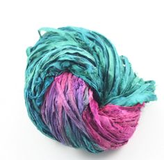 Reclaimed Recycled Silk Yarn Ribbon: Grapevine from DGY!