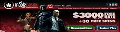 Canadian Maple Casino receive 60 mintues of FREE play with $3000 with no deposit needed.