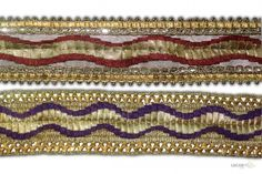 Its product code is: 000242 , Its size is: 50 mm. Material used is 100% Polyester . This Saree Border comes with Hand Work , Sequence decoration. As seen design pattern is Laher Price: Rs382.50 / 9 Meter Roll @ www.lacxo.com