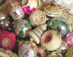 """Vintage ornaments from the """"Everyday Beauty"""" blog"""