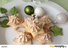 Vánoční hvězdičky recept - TopRecepty.cz Desert Recipes, Food And Drink, Eggs, Sugar, Cookies, Chicken, Breakfast, Cake, Crack Crackers