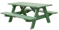 Build Yourself a Picnic Table with One of These 14 Free Plans: Traditional 6 Foot Picnic Table Plan from Bob's Plans