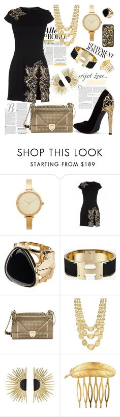 """""""#PolyPresents: Statement Jewelry and love gold💛"""" by verlacomplacencia ❤ liked on Polyvore featuring Michael Kors, Dsquared2, Aurélie Bidermann, Christian Dior, Marco Bicego, Des Petits Hauts, Casetify, contestentry and polyPresents"""