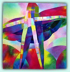 "Melody Johnson: Art Quilts - Galleries - Cruciform Series, The Dance, 57x60"""