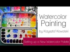 ▶ Setting up a new watercolor palette - YouTube