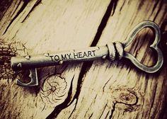 #key #flower #photo #heart