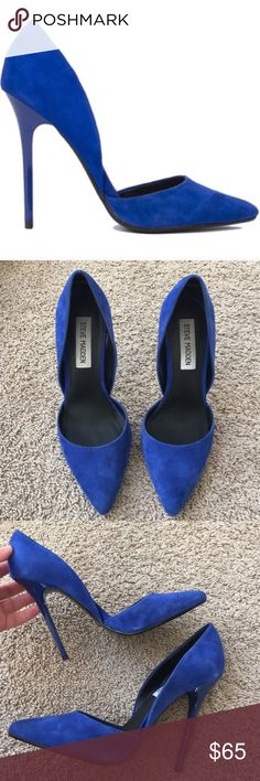 Steve Madden Pumps Excellent condition. I wore them once to a wedding. Leather upper and suede exterior. There is minor scuffing that came with the heels because of the suede material (visible in first picture). Steve Madden Shoes Heels