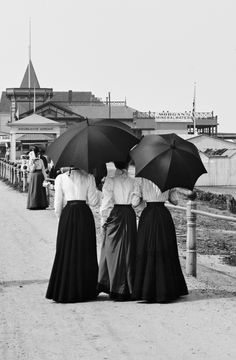 Portrait of a woman - these skirts though...- vestatilleys: Driveway and beach, Longbranch,...