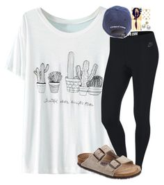 Heyo guys it's 12:24 am lol by skmorris18 on Polyvore featuring polyvore, fashion, style, WithChic, NIKE, Birkenstock, Mikimoto, Kate Spade and clothing
