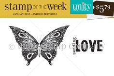 Antique Butterfly - Stamp of the Week - Unity Stamp Co