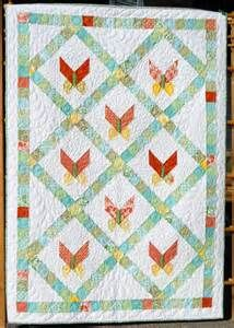 Baby Quilt Pattern Butterfly Jelly Roll by LittleLouiseQuilts