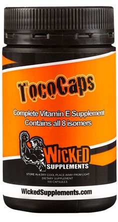 TocoCaps by Wicked Supplements - Available at SoCal-Nutrition.com   – Our Patented Hair Growth Formula That Boosts Your Testosterone Levels and Stops Hair Loss Fast  TocoCaps is an all-natural supplement extracted from Palm Fruit that prevents hair loss whilst promoting hair regrowth. The superior vitamin E formula has been clinically proven to optimise and stimulate testosterone production, as well as support a healthy cardiovascular system.