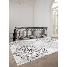Kalora Platinum Venetian Grey/White Area Rug & Reviews | Wayfair