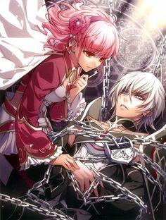 #Anime couple, Kagerou Usuba, Idea Factory, Wand of Fortune II Official Visual Fan Book