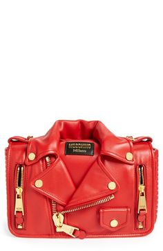 Moschino 'Biker Jacket' Shoulder Bag available at #Nordstrom