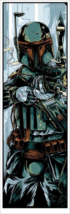 Boba Fett by Ken Taylor #StarWars #BobaFett I'm going to be a gogo dancer but with a Boba Fett helmet on.: