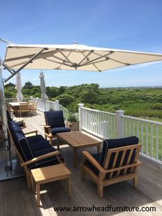 This private client enjoyed mixing the Gloster deep seating Ventura with a TUUCI Cantilever. With a great Nantucket view, I cannot blame them.