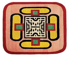 // Nathalie Du Pasquier rug design