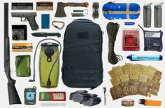 Bug-Out Bag Essentials Survival Equipment, Survival Tools, Survival Prepping, Emergency Preparedness, Survival Quotes, Camping Equipment, Survival School, Survival Project, Doomsday Prepping