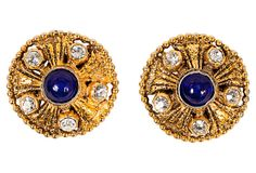 Chanel Blue Stone Earrings, 1985 on OneKingsLane.com $845.00