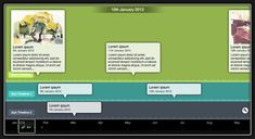 TikiToki is a great application for multimedia timelines making . It allows its users to create stunning animated timelines. TikiToKi is very easy to use and above all its basic version is completely free . Tiki Toki, Program Evaluation, Interactive Timeline, Online Programs, Lorem Ipsum, Social Studies, Reading