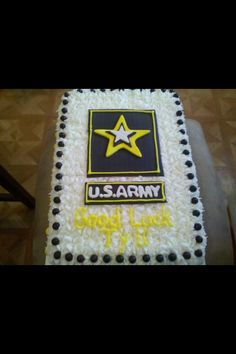 Army cake I did for a going away party to serve our country