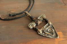 Primitive Tribal Necklace Pendant Handmade by EtinifniCreations