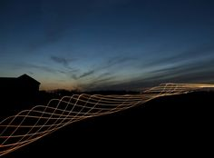 The light tornado. With a beautiful sunset.