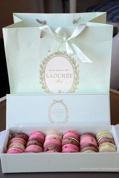 Paris Photography Laduree Box Macarons Paris by KathyFornal