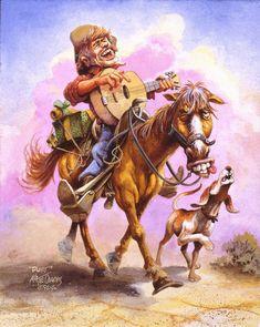 Рисунок ковбой