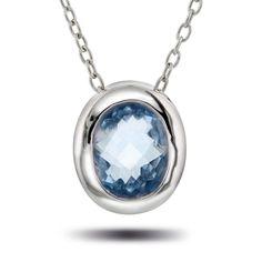 """Bring inn """"noe blått"""" med brudesmykkene - Smykke i sølv med zirkonia og topaz - Juvelen gullsmed"""