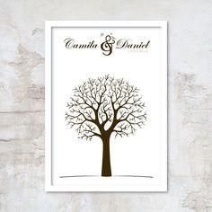 Árvore de Digitais para Casamento