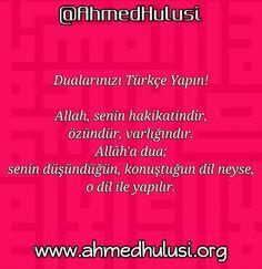 Dualarınızı Türkçe yapın