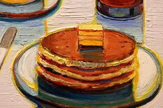 Pancake Breakfast - Wayne Thiebaud. I love his paintings!