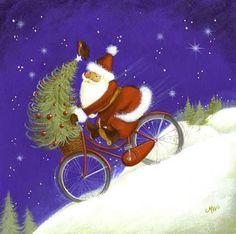 Pinzellades al món: Pare Noel en bicicleta / Papá Noel en bicicleta / Santa Claus on bike