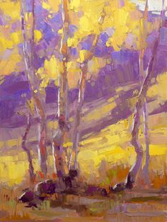 ...David Mensing Fine Art..Stand in the Counsel Autumn outside of Aspen, Colorado Oil on canvas 24 x 18