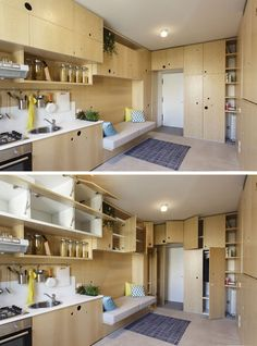 Kitchen Design Ideas - 14 Kitchens That Make The Most Of A Small Space // Tons of storage space and all the essential appliances make this tiny kitchen completely functional and easy to maneuver.